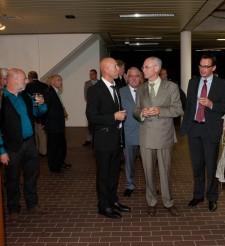 Herman Van Rompuy visits exhibition Monique De Ceulaer & Gie Luyten in Leopoldsburg (Belgium)