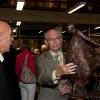 Herman Van Rompuy bezoekt tentoonstelling  Monique De Ceulaer & Gie Luyten in Leopoldsburg (B)